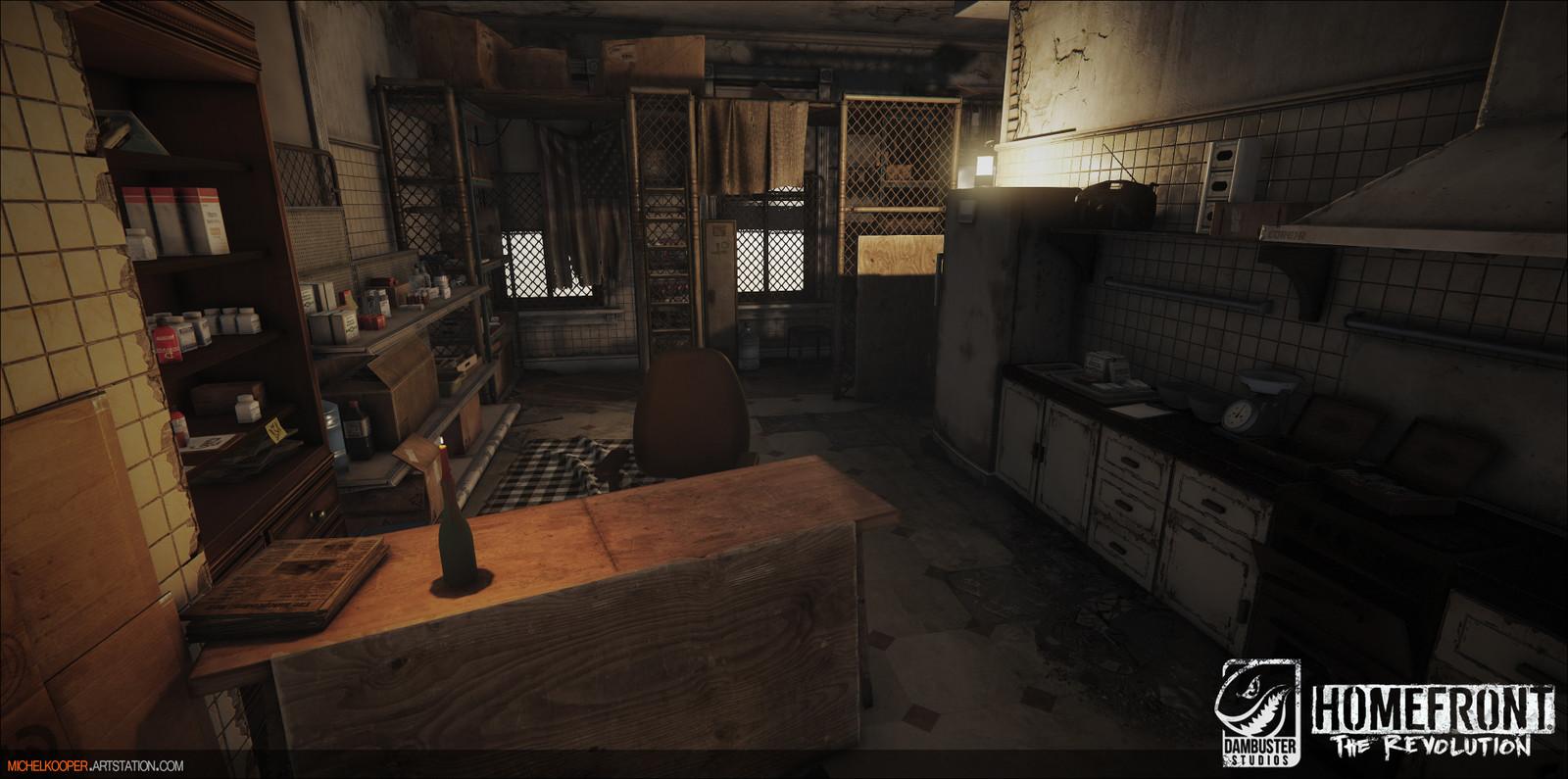 Interiors level art & set dressing