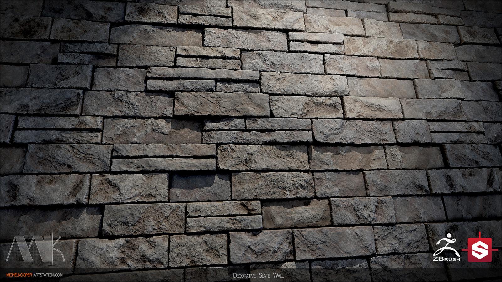 Decorative Slate Wall - Close up