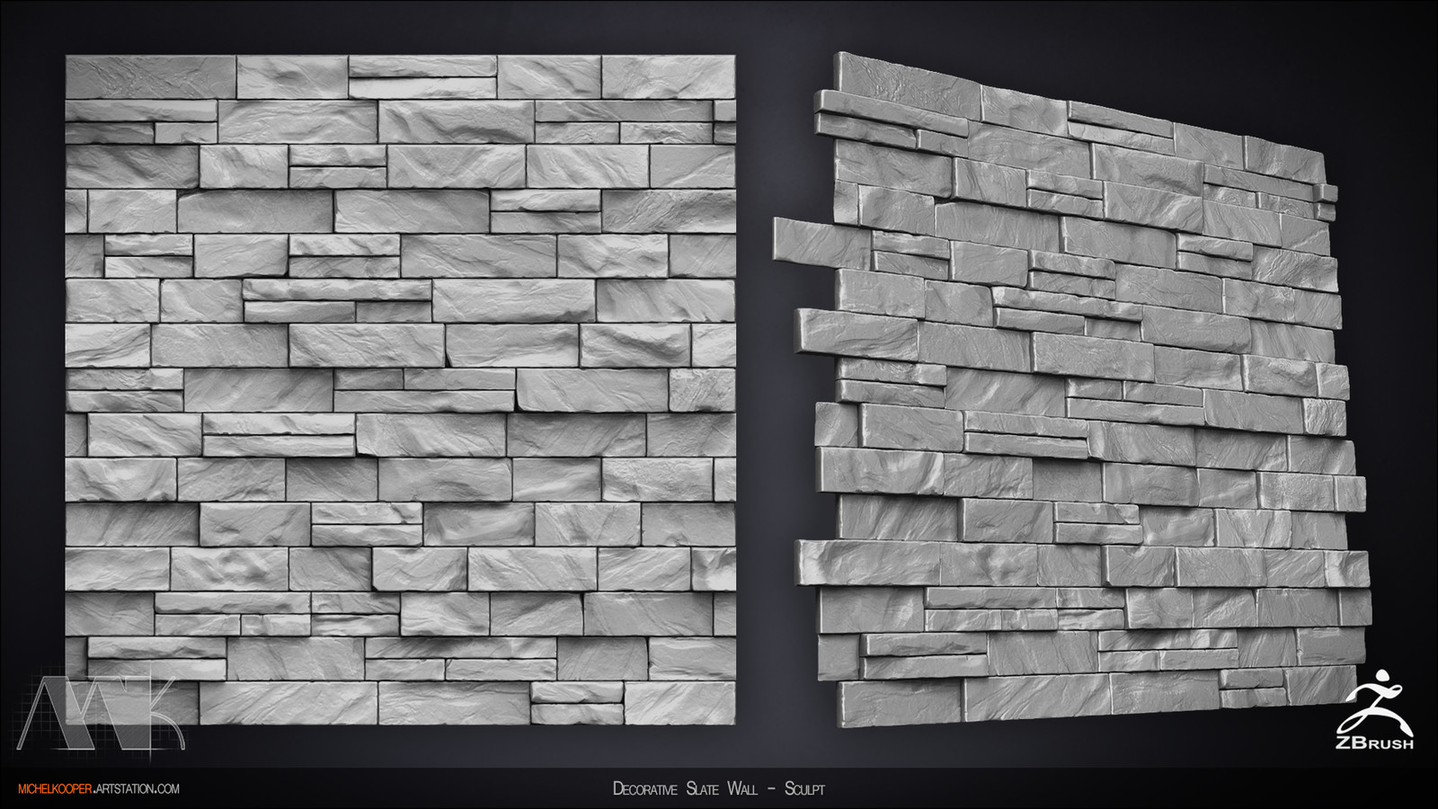 Decorative Slate Wall - Sculpt