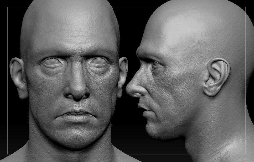 After receiving critique from online forums, the sculpt started to shape up