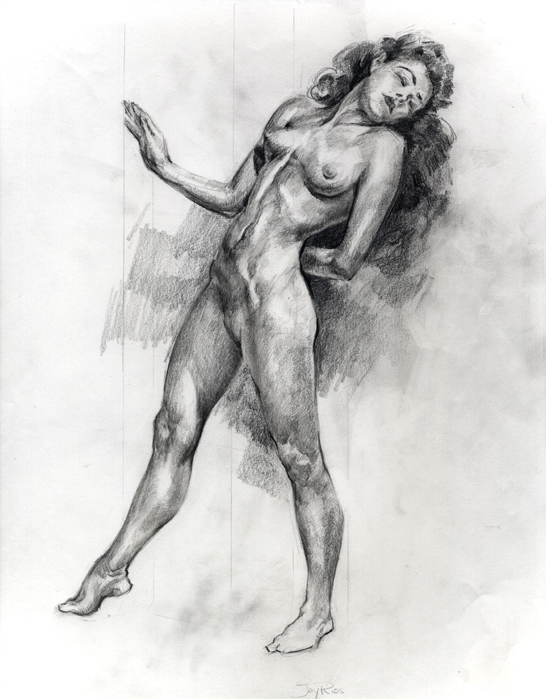 Graphite, master copy after Andrew Loomis.