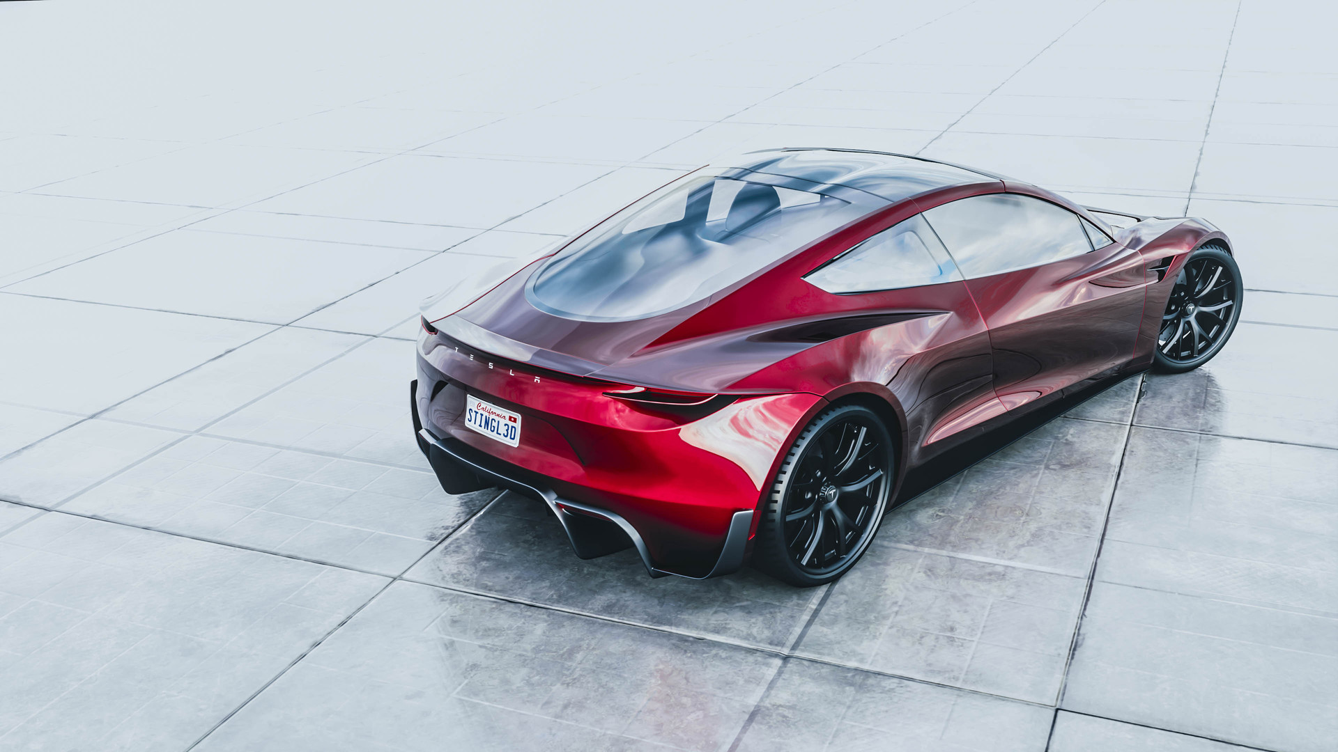 David stingl tesla roadster 2020 back1 2
