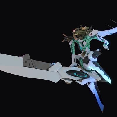 Moku tsuno swordilg