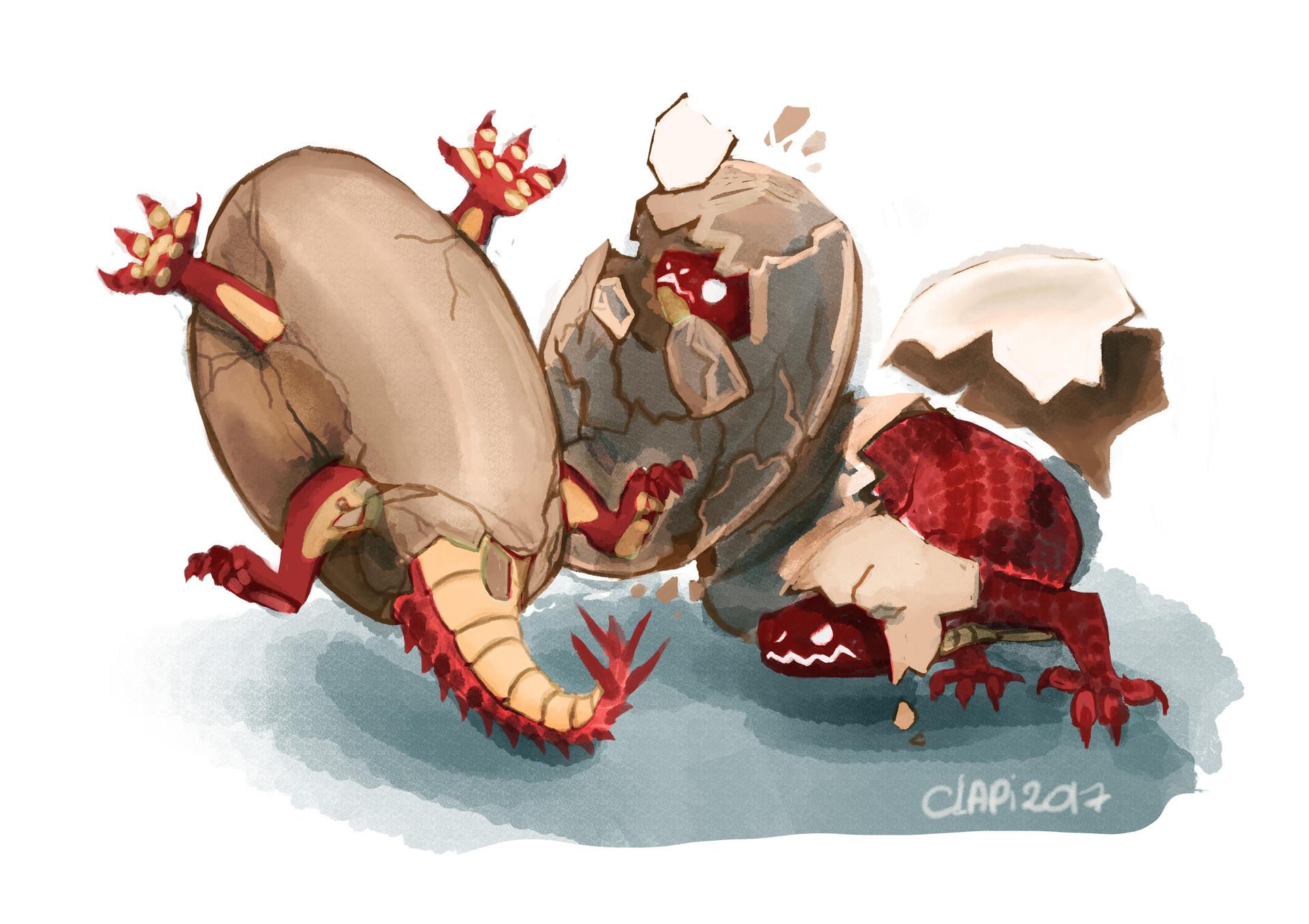 Claudia pistritto 3 salamander eggs