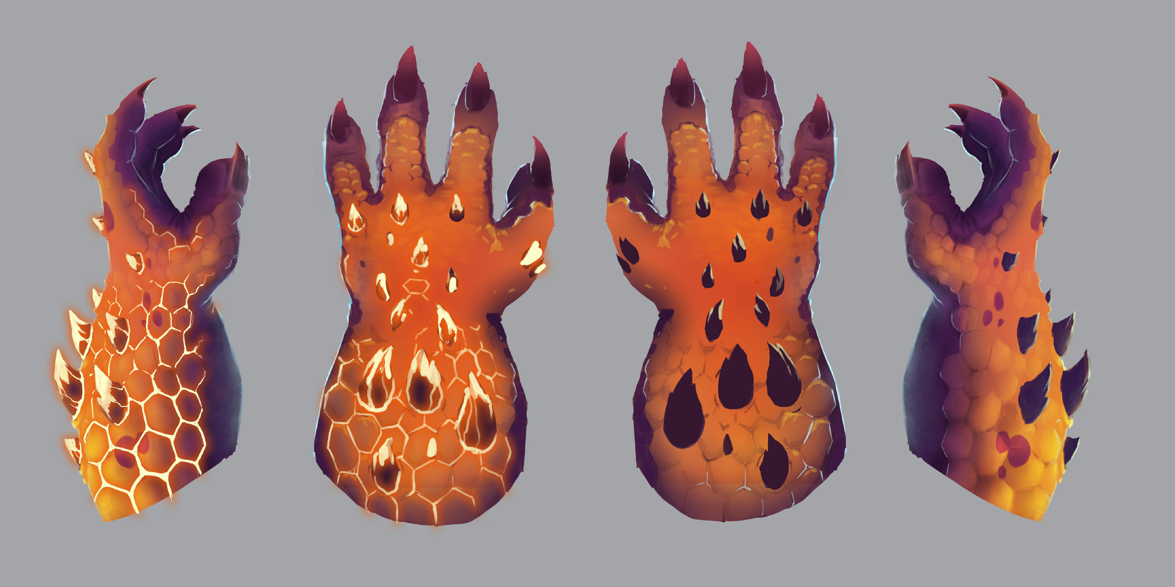 Final concept art for the player's claws.