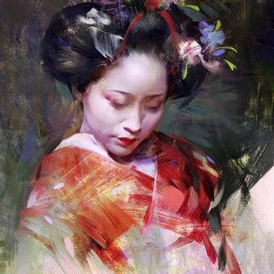 Geisha portrait series