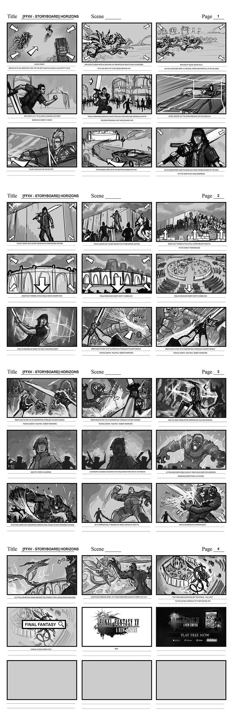 Efrem palacios ffxv storyboard horizons60sec