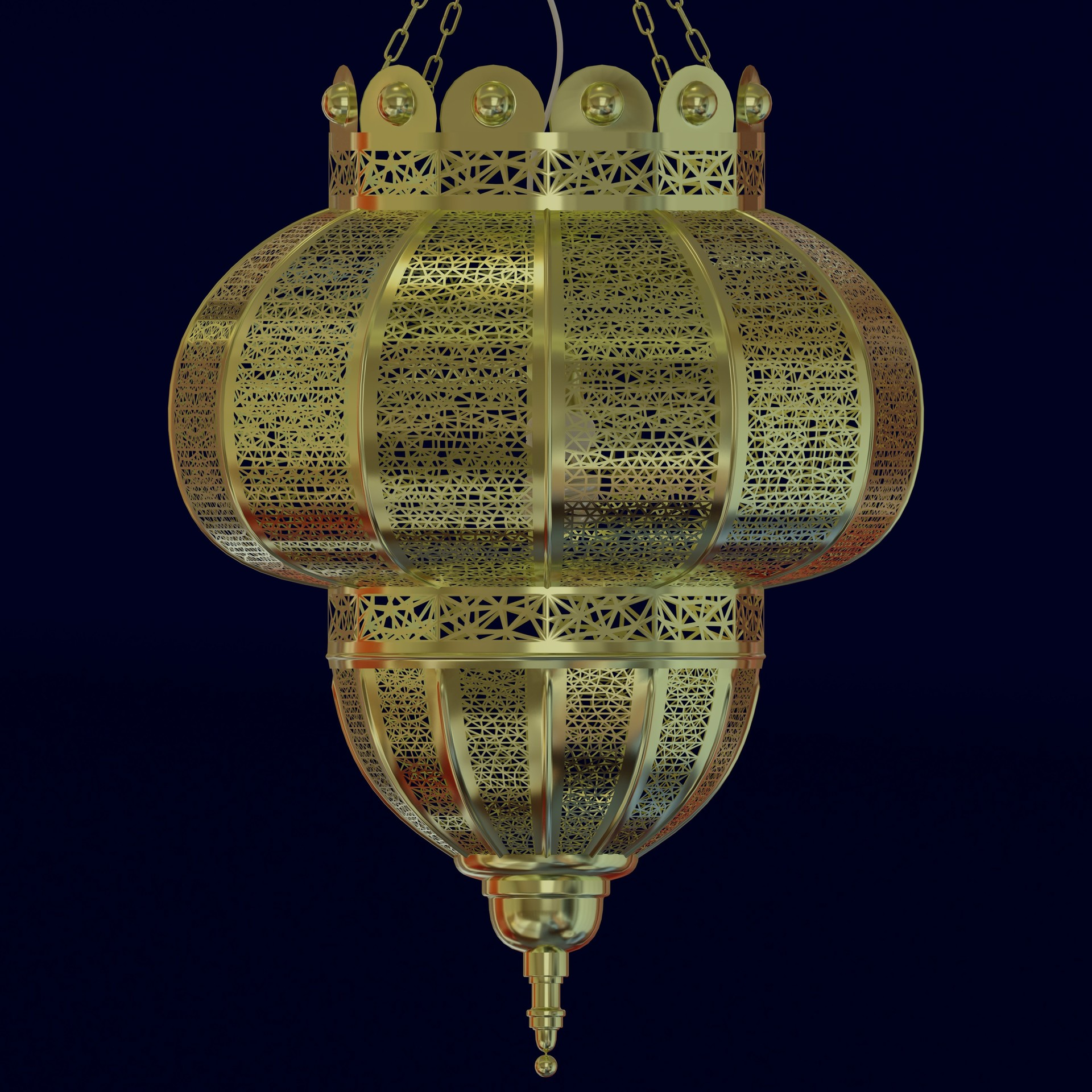 chairish brass moroccan hanging lamp product