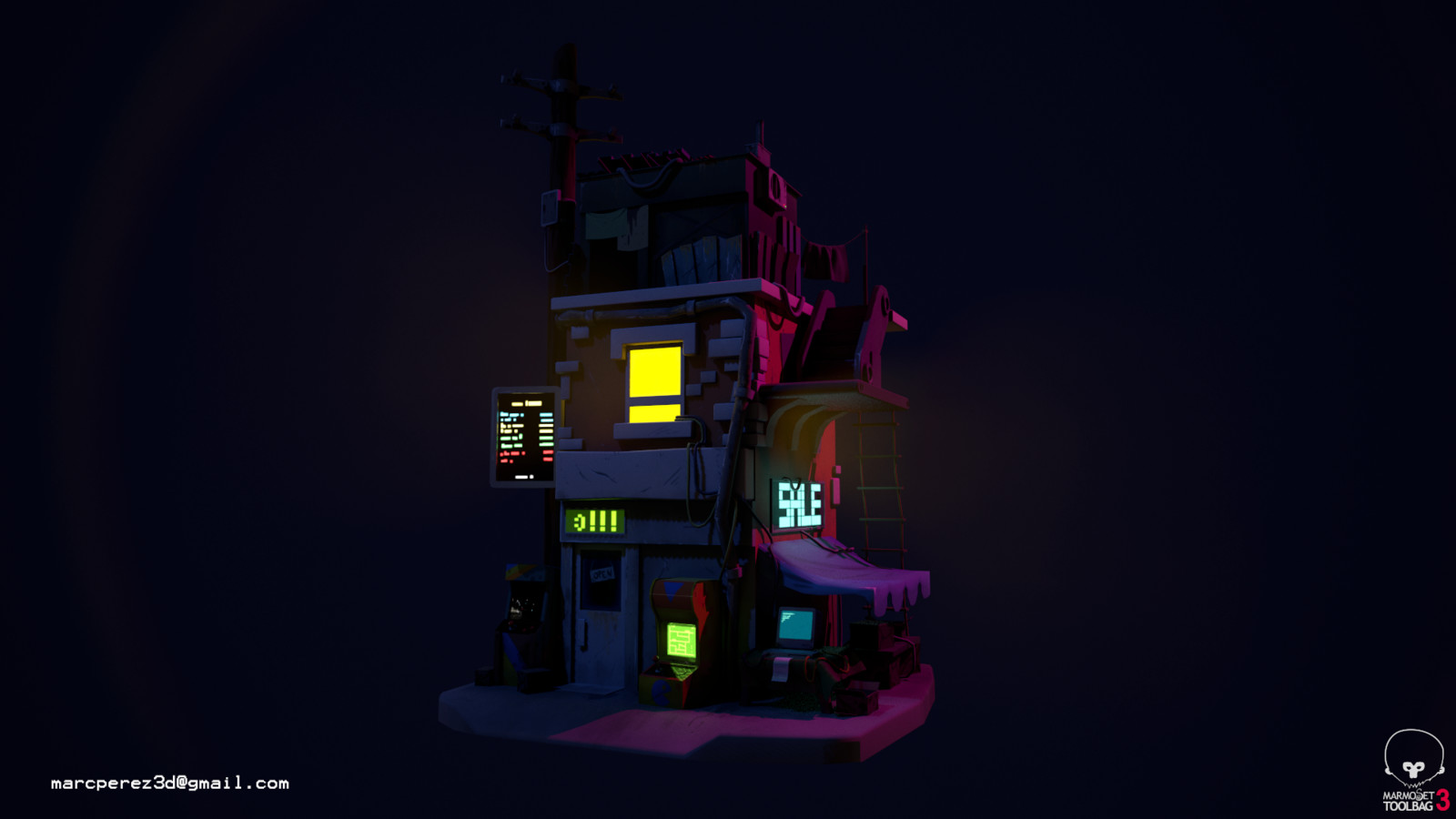 Night version with lights up