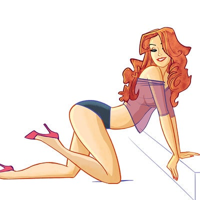 Serge fiedos daily pinup number five by serge fiedos
