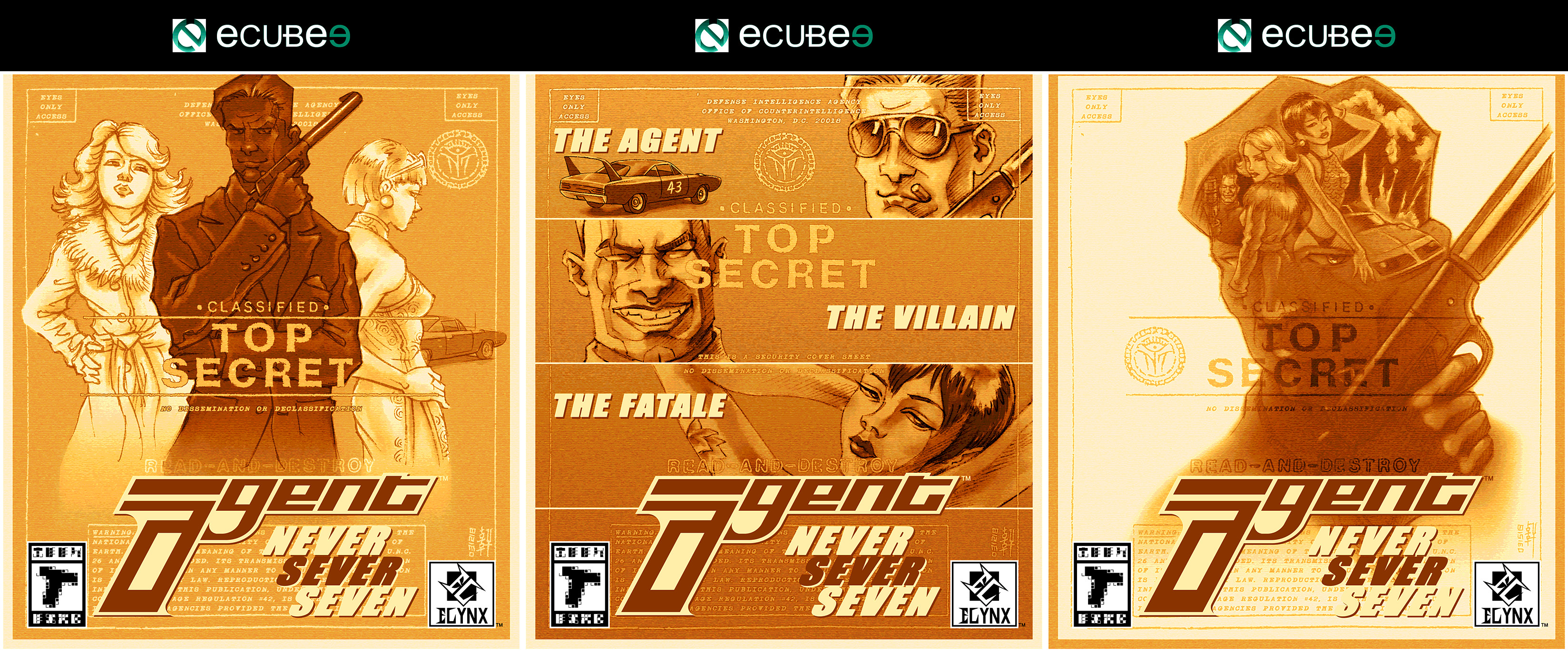 Agent - Box Art Design Triptych
