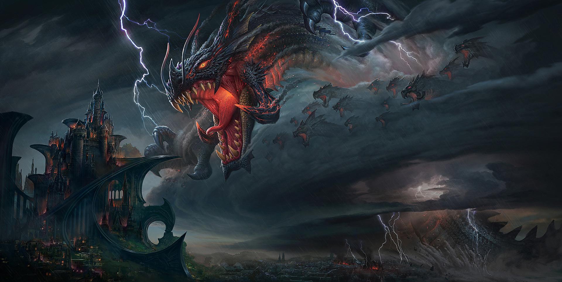 huge dragon