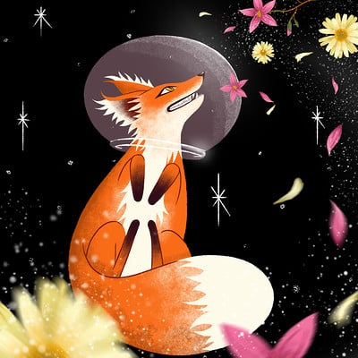 Angie pik illustrator space fox