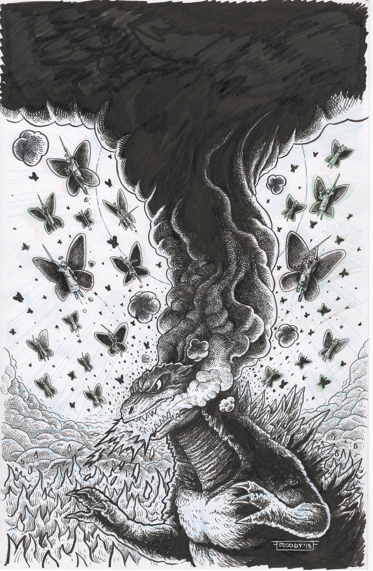 Godzilla in Hell #3 cover art scan.