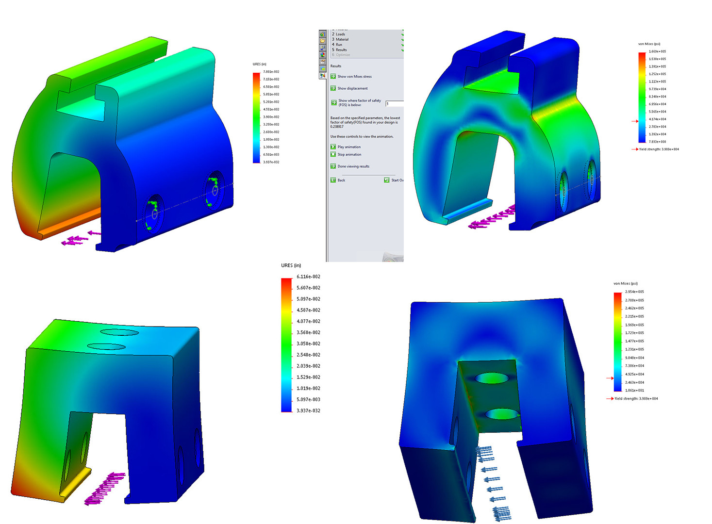 I frequently used basic simulations to check the new design against the original design and find weak points.