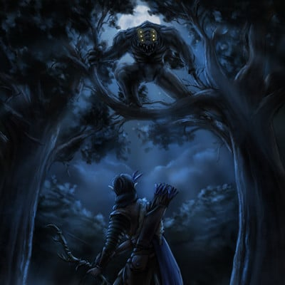 Christian hadfield fantasy art the grey hunt by christian hadfield