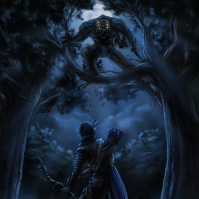 Christian hadfield fantasy art the grey hunt by christian hadfield