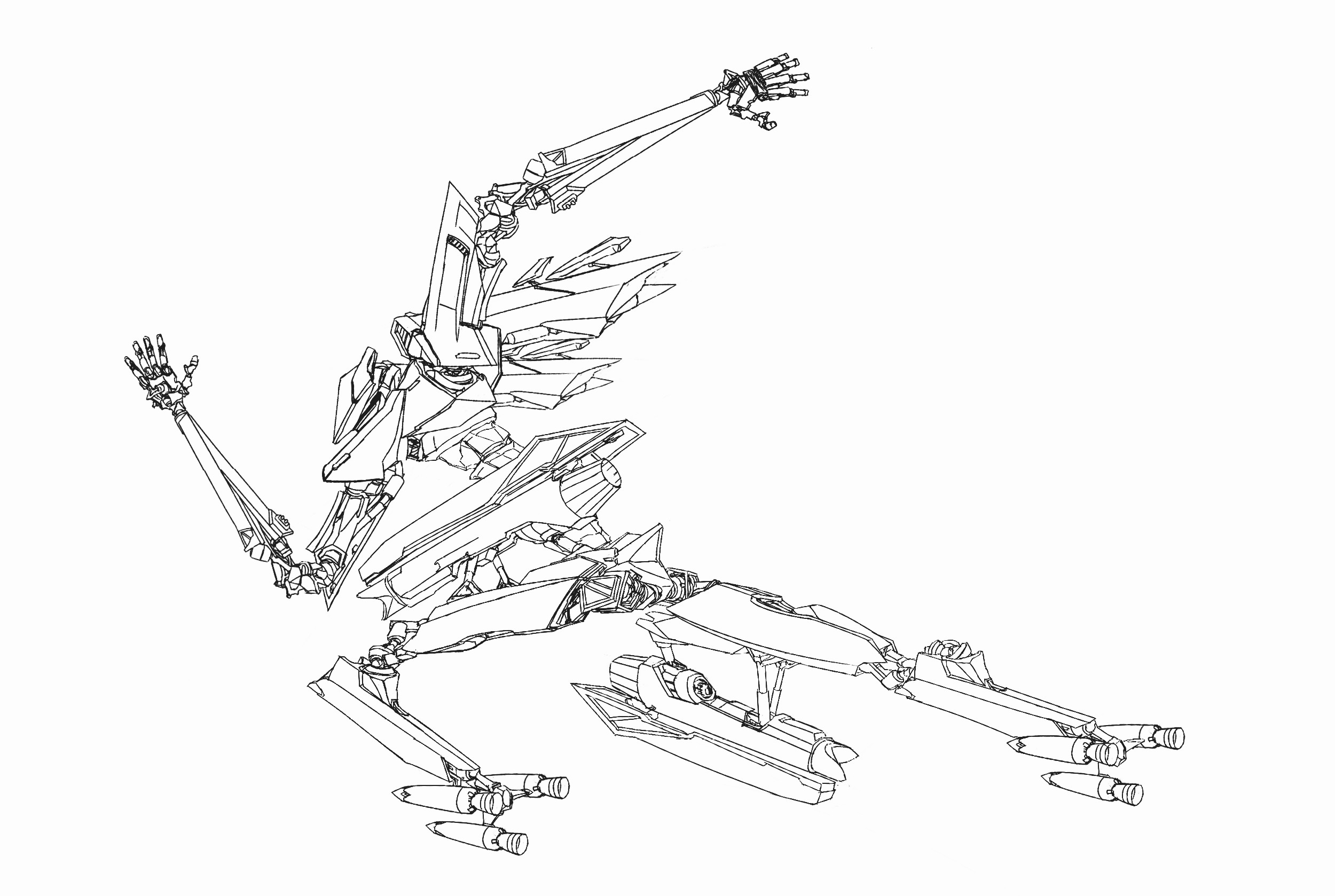 Scanned it in and more seriously rendered the mechanical bits.