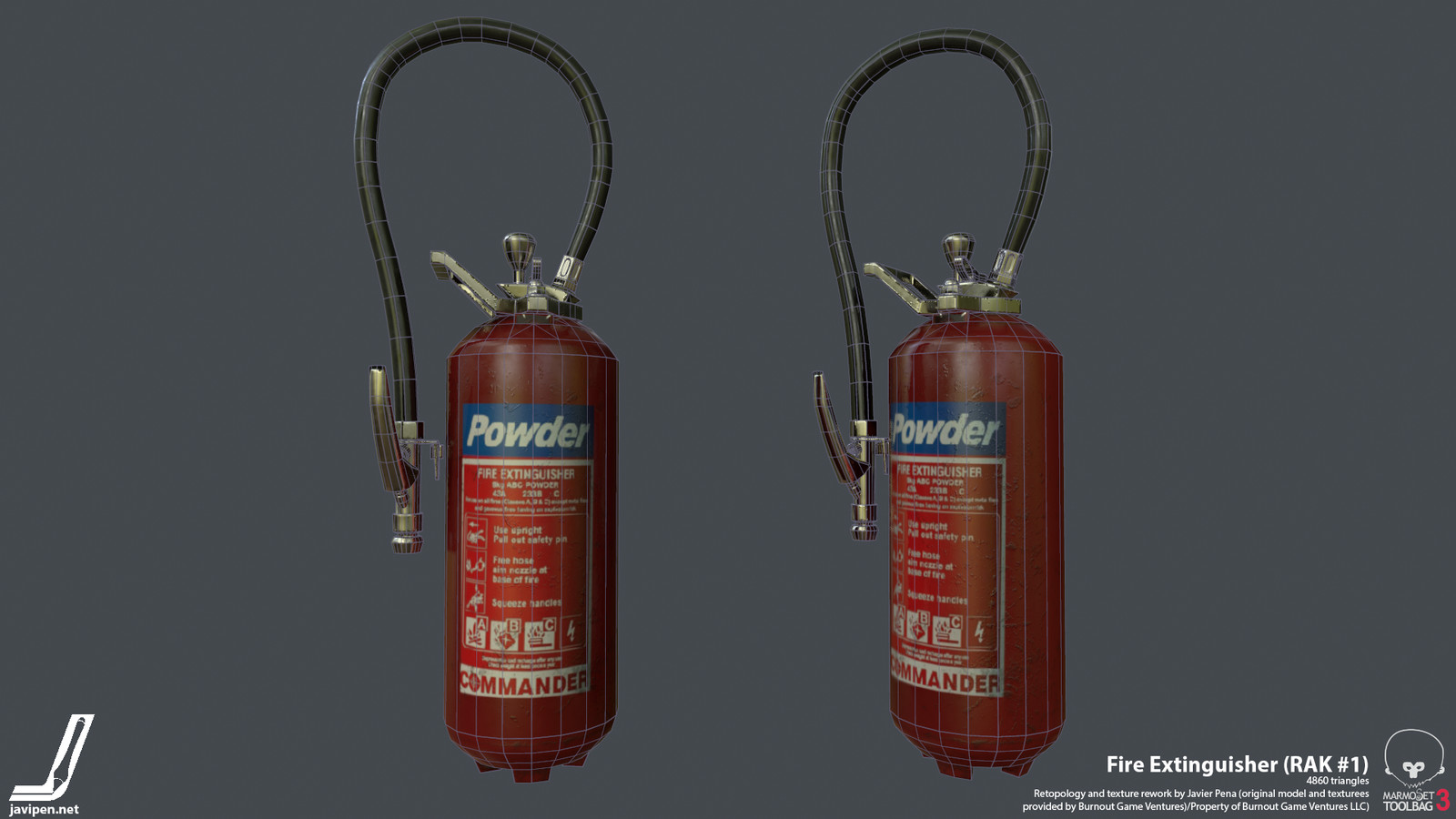 Fire Extinguisher Wireframe