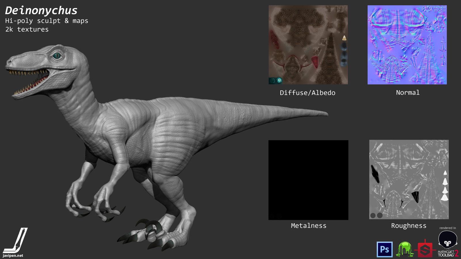 Deinonychus Sculpt and Textures