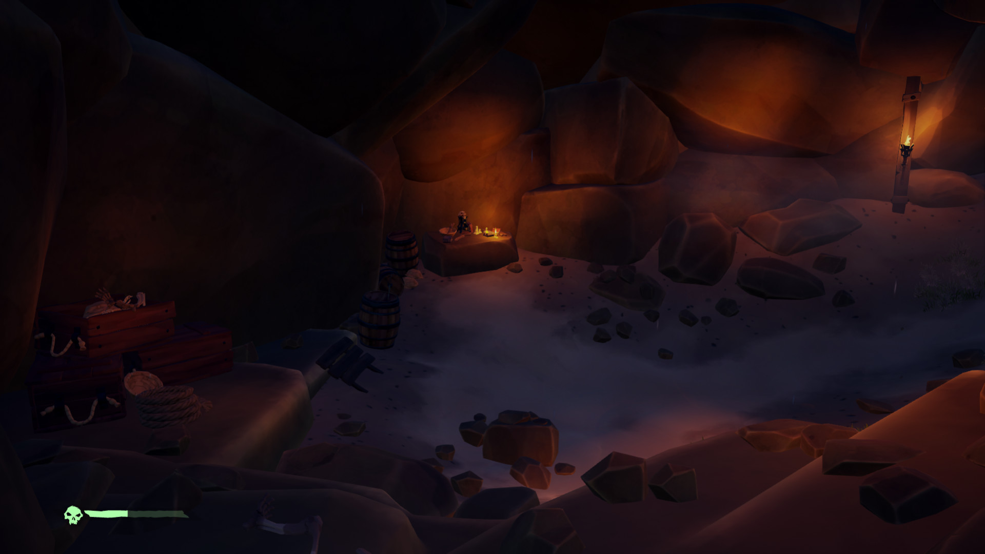 The cave in Cannon Cove was the first Area of Interest I worked on, in collaboration with other artists.