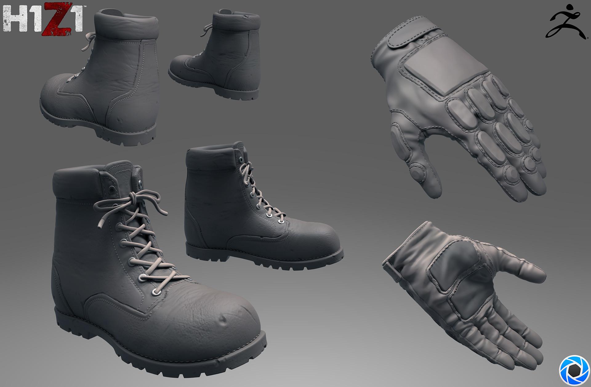 Satoshi arakawa boots and gloves sculpt