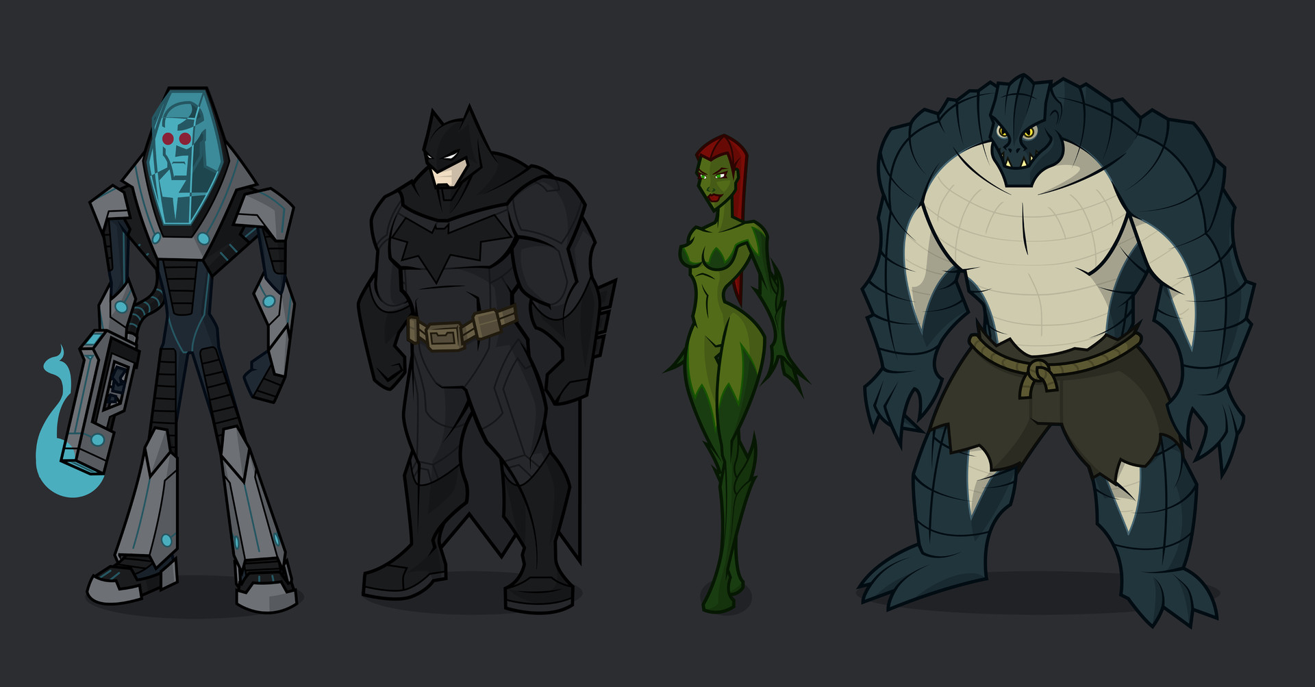 For that Killer croc and poison ivy