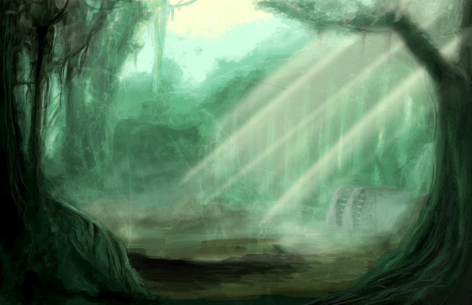 second version of the jungle the setting