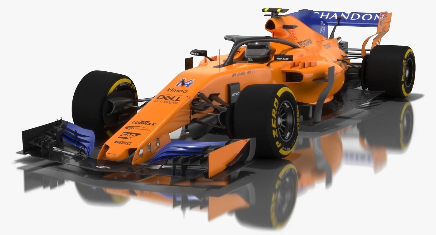 artstation - mclaren mcl33 formula 1 season 2018 3d model, oleksii