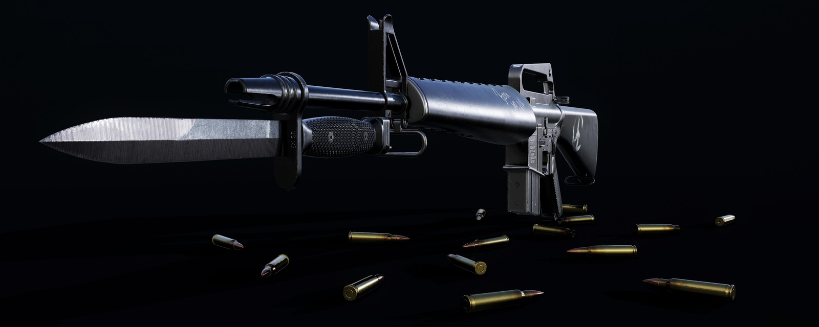 M16A1 with Bayonet