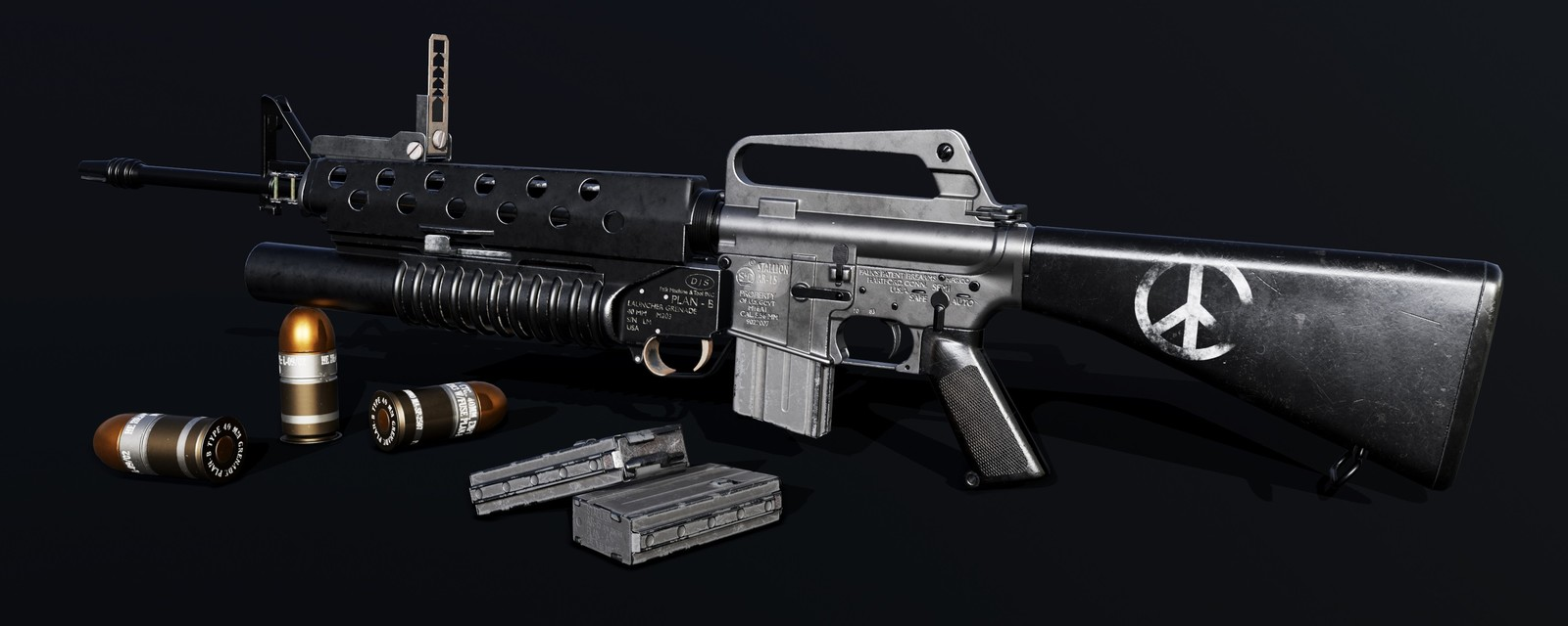M16A1 with M203 Grenade Launcher
