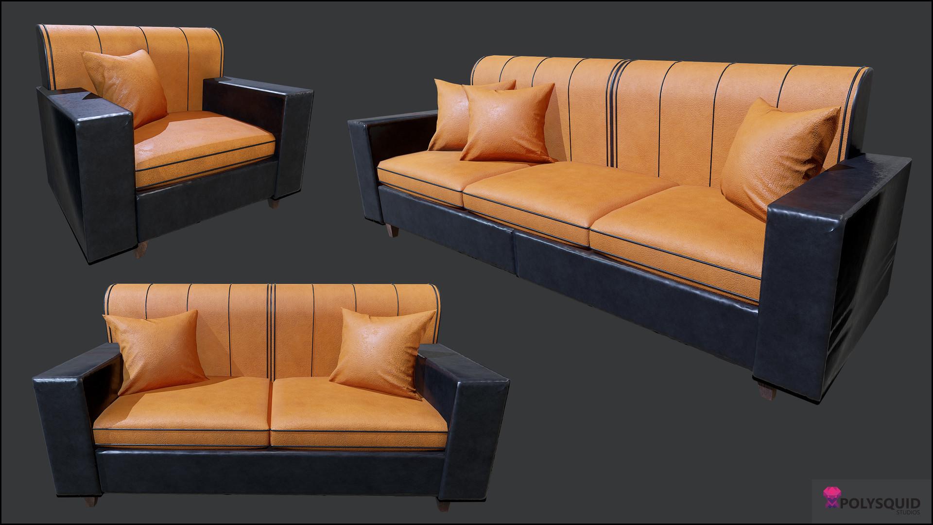 Poly squid florin bisca modular sofa