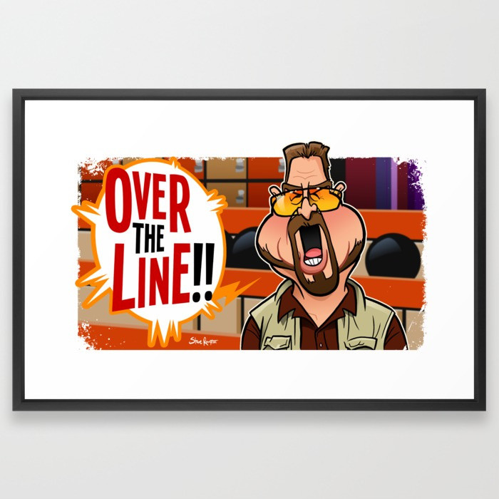 Steve rampton over the line526564 framed prints