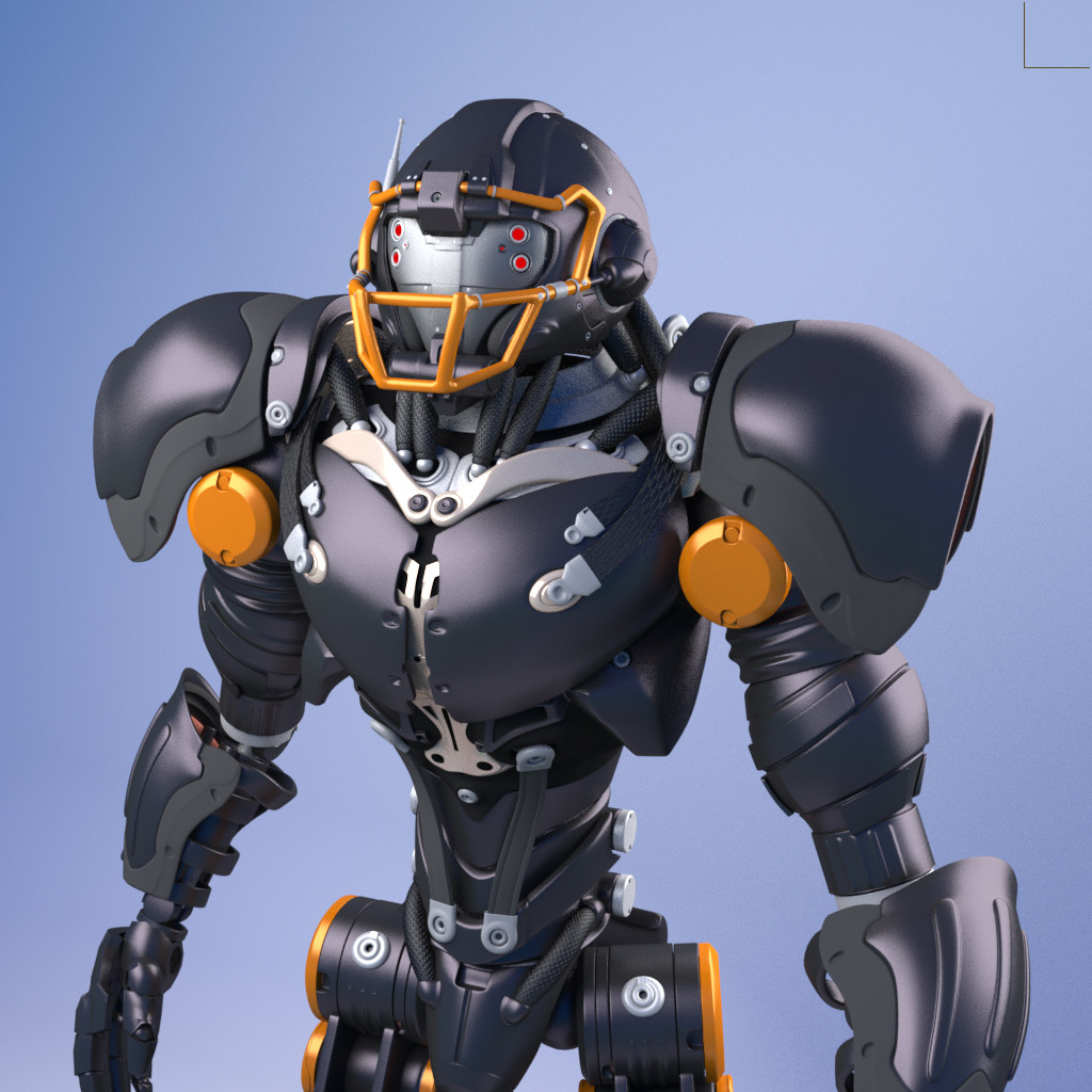 ArtStation - Robot football player 3D modeling , Fernando Faria
