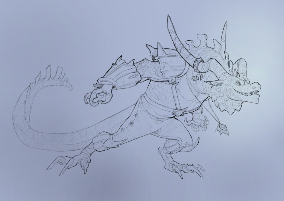 Cindy a avelino dragon characters revision final sketch