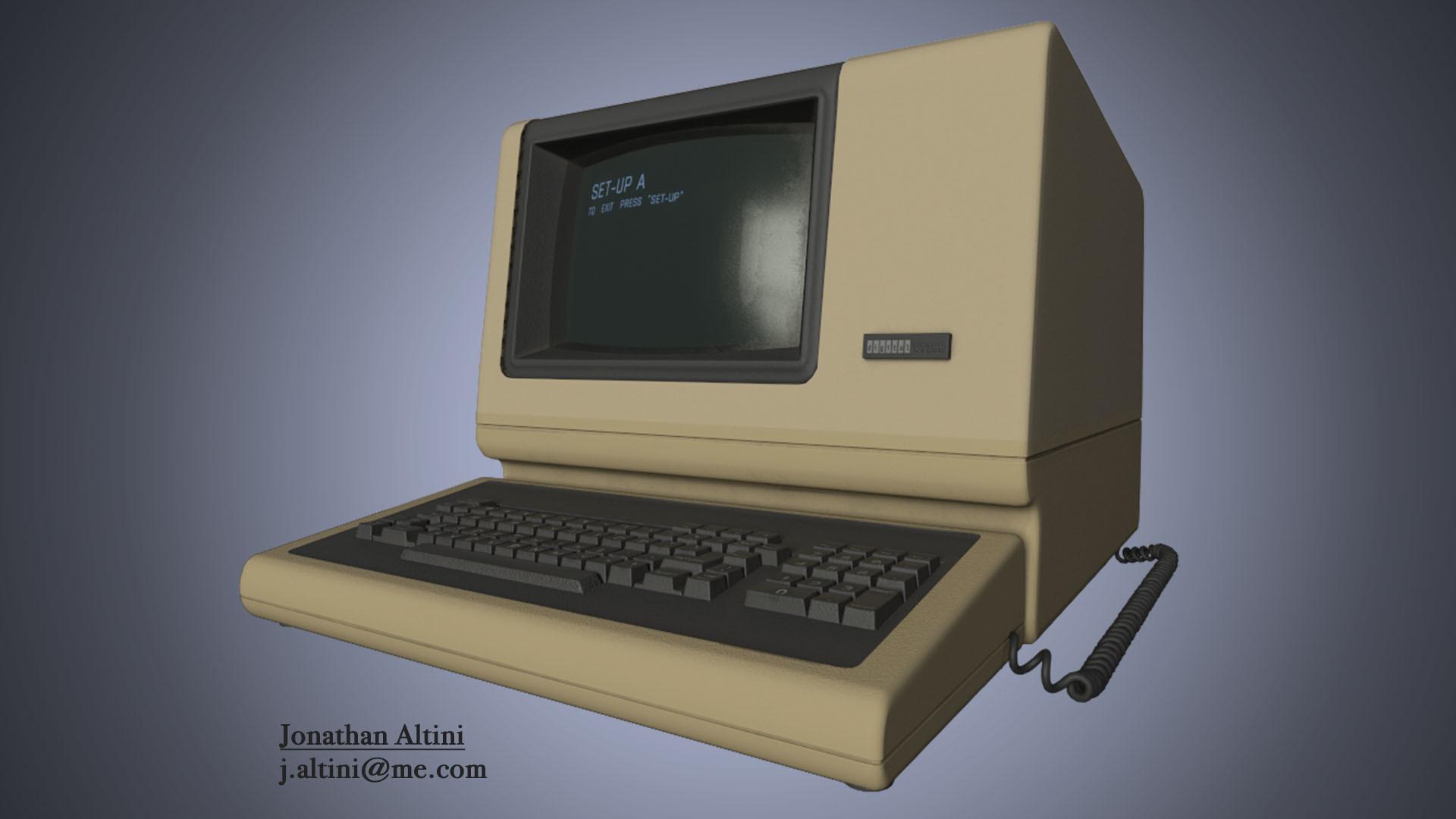 Jonathan Altini - DEC VT100 terminal