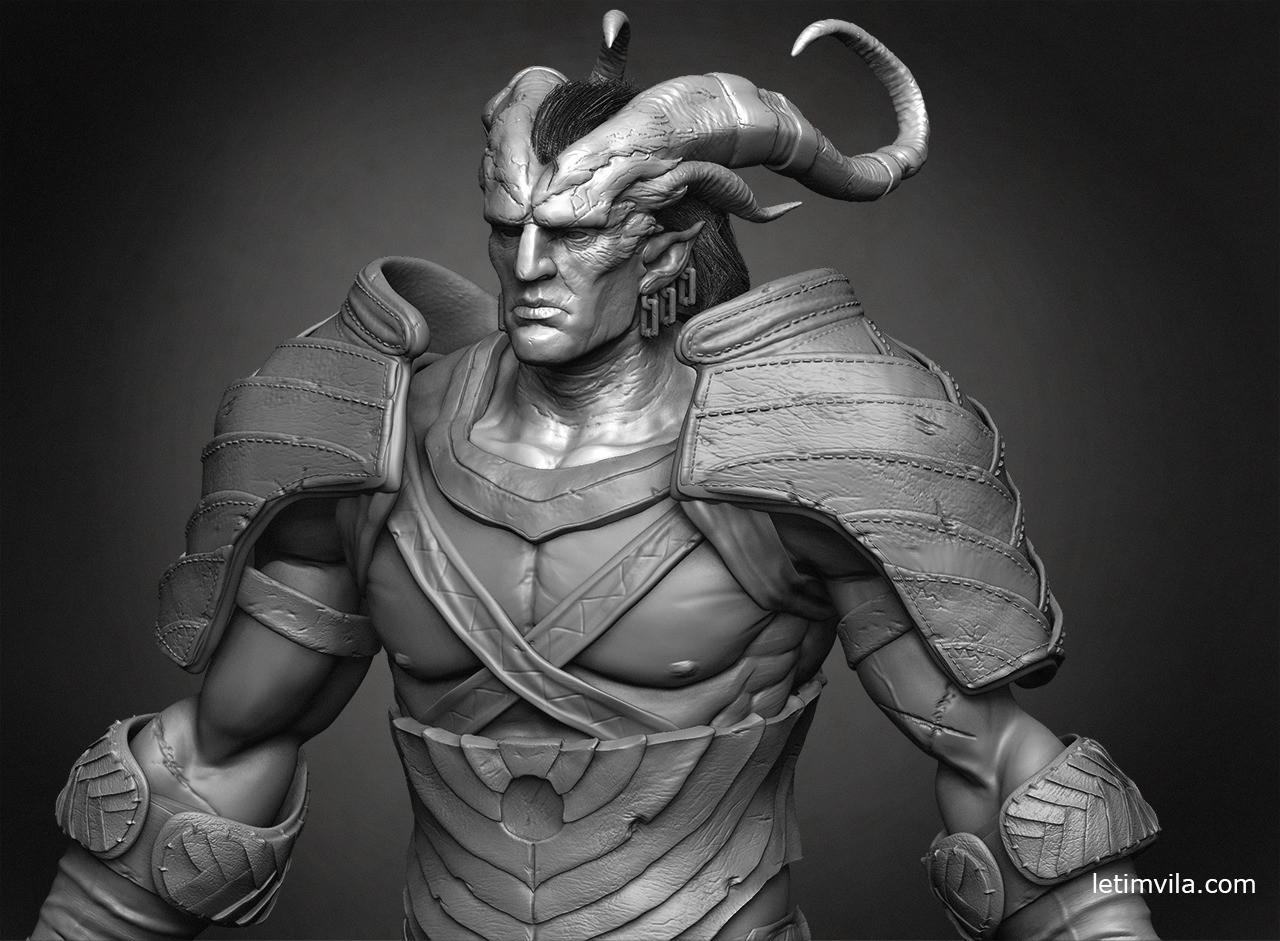 Close up sculpt Zbrush