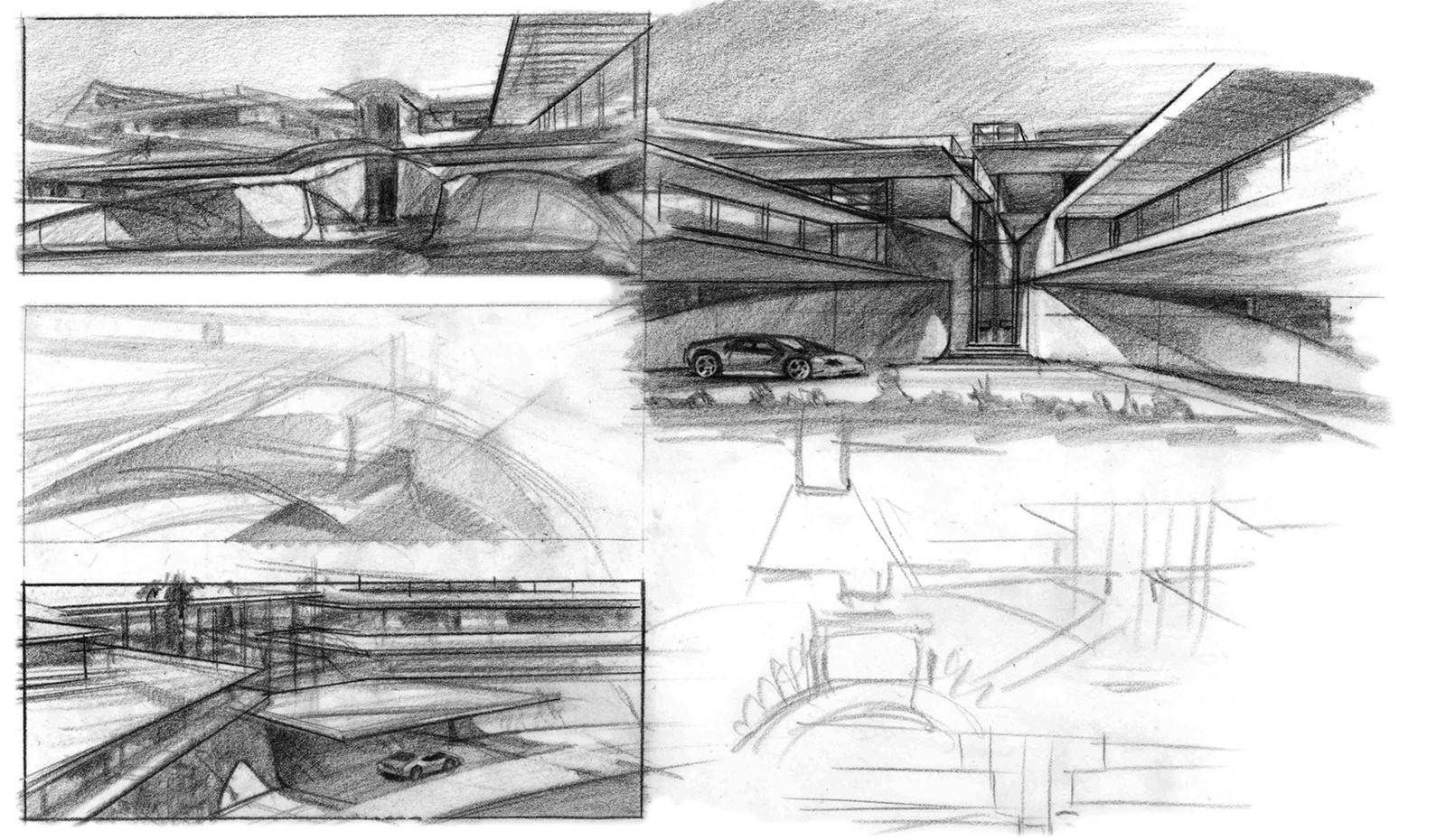 Entryway sketches.