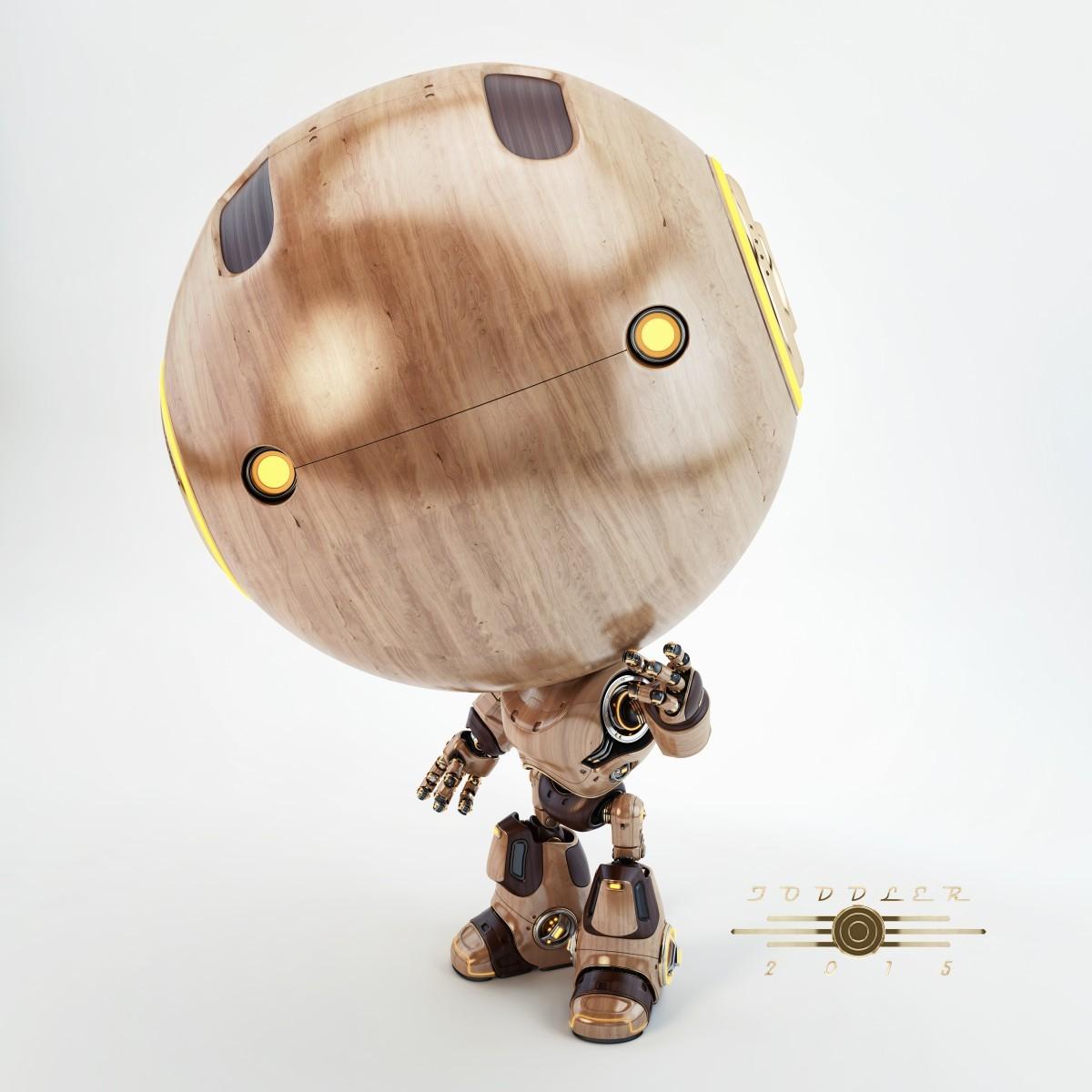 Vladislav ociacia toddler retro robot 5