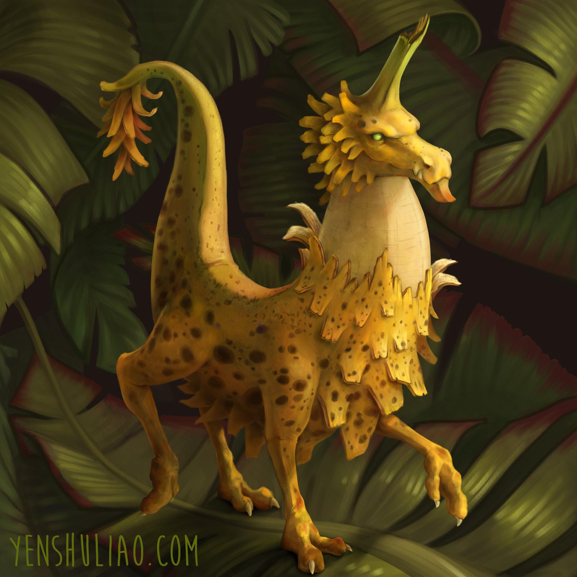 Yen shu liao creature concept banana dragon yenshuliao