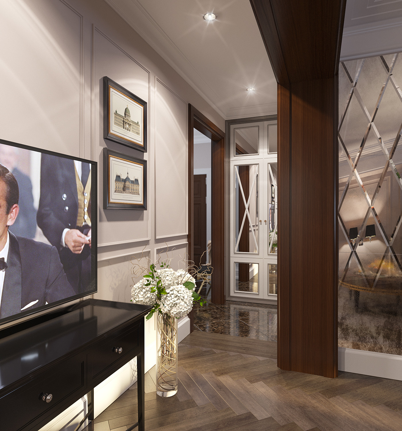 ArtStation - Project of Interiors at flat at ... on home office area design, sitting for a bedroom design, home master bedroom design, home bar counter design, home front entrance design,