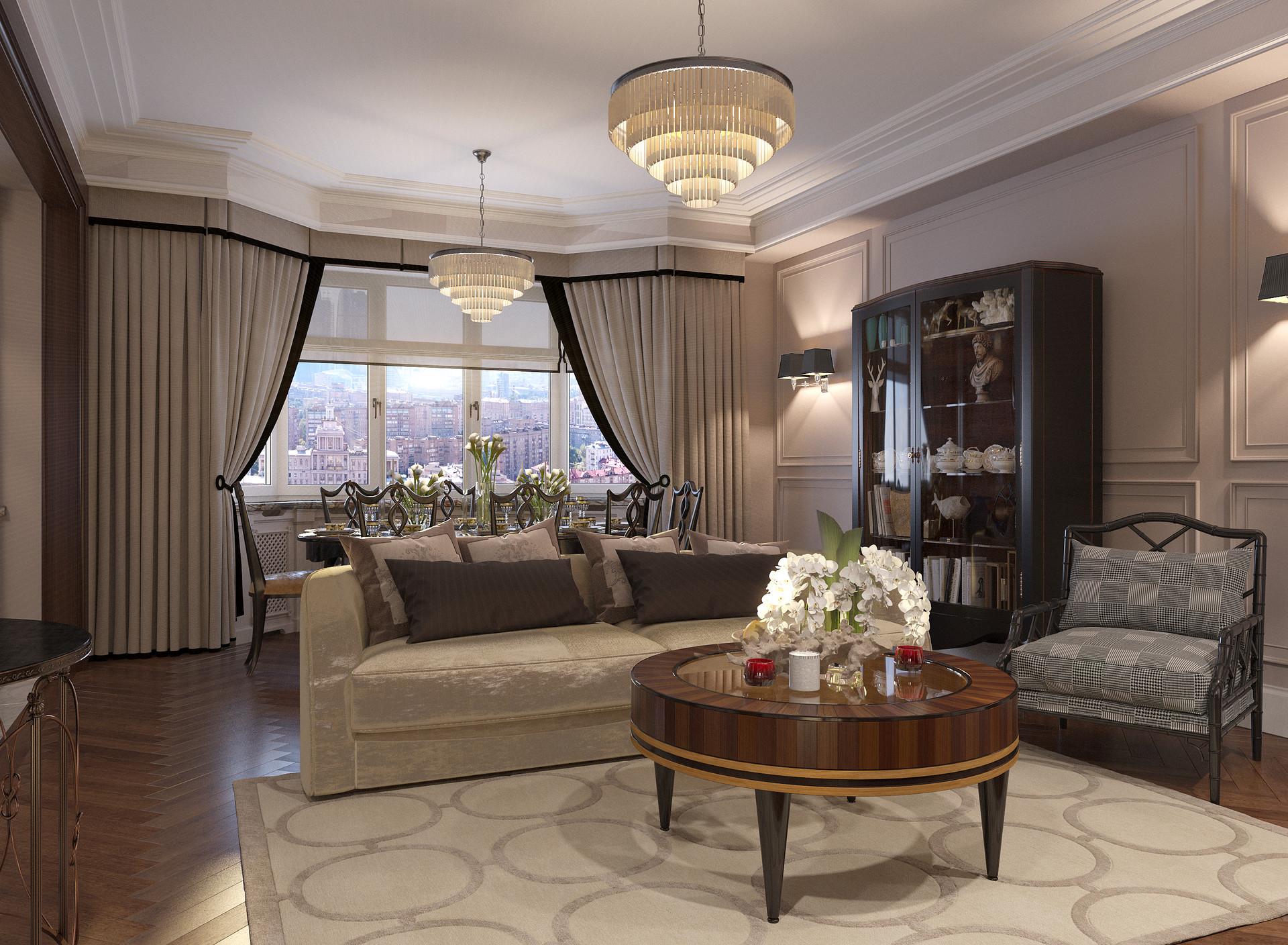 Sitting Room: Https://daryagirina.blogspot.ru/2018/03/project Of Interiors  At Private Flat At.html