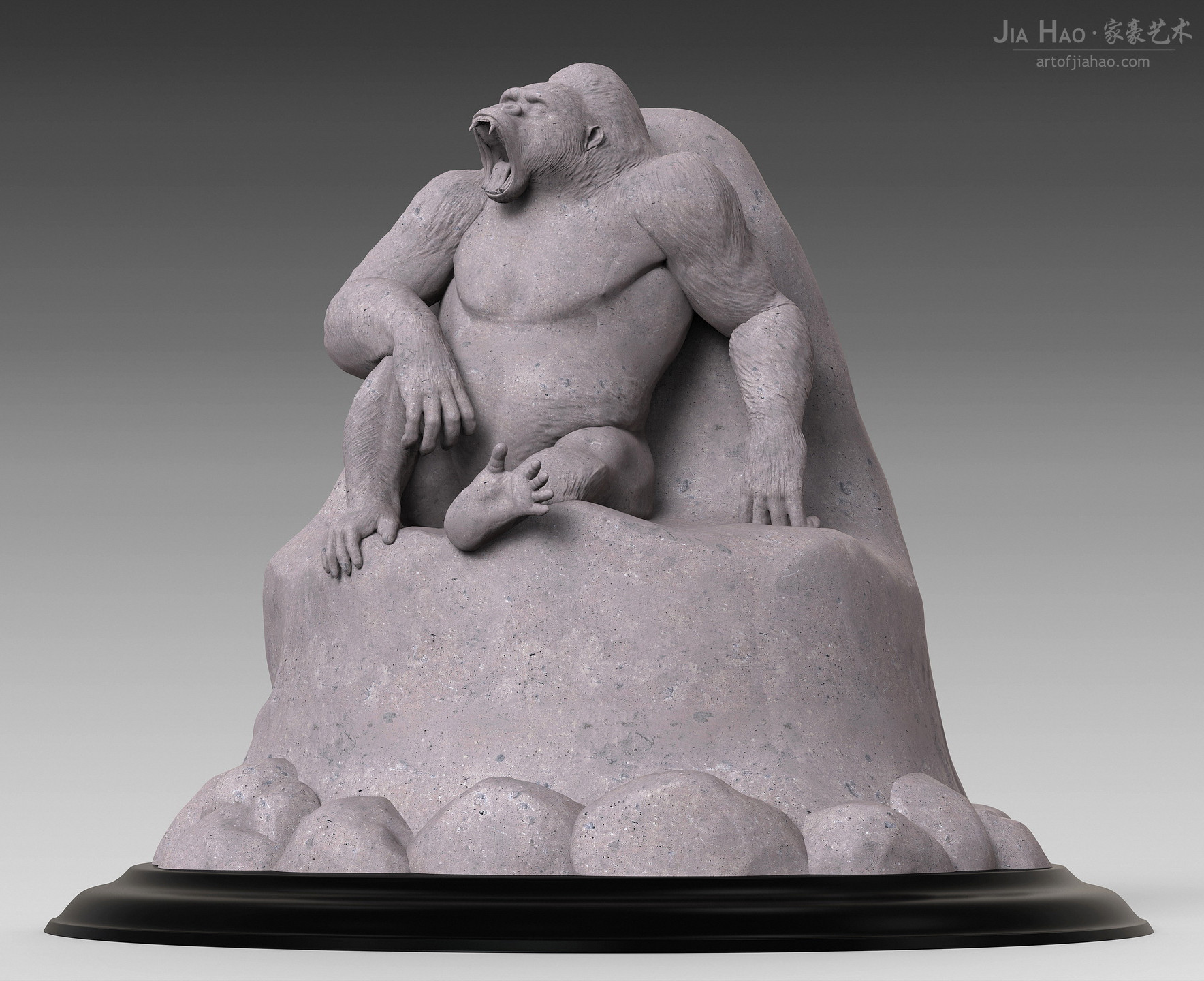 Jia hao gorilla digitalsculpture 01