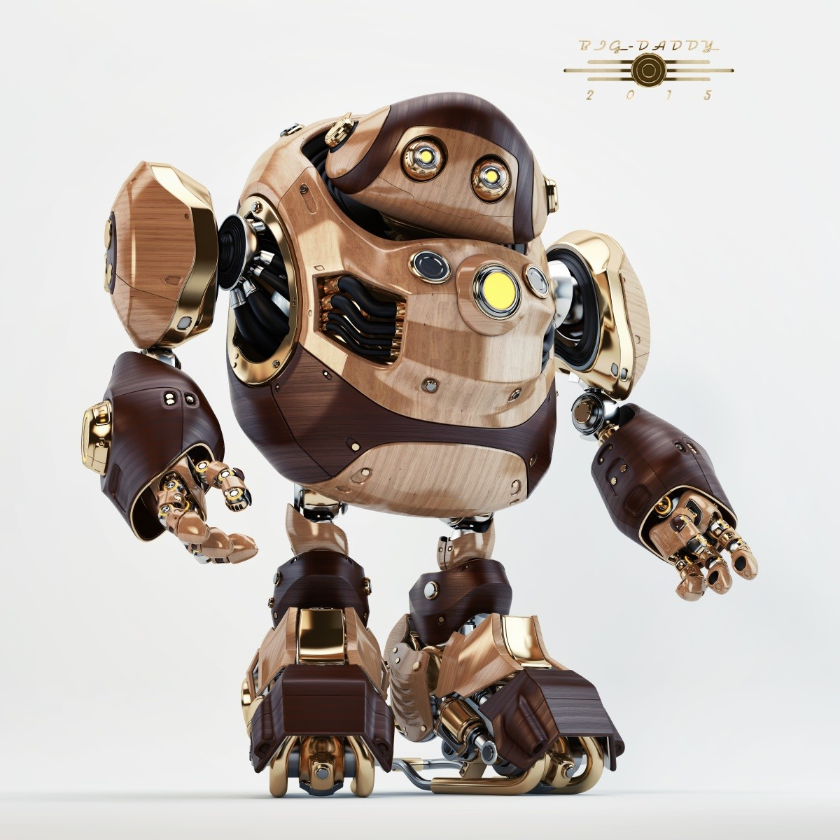Vladislav ociacia big daddy robot wooden retro 5