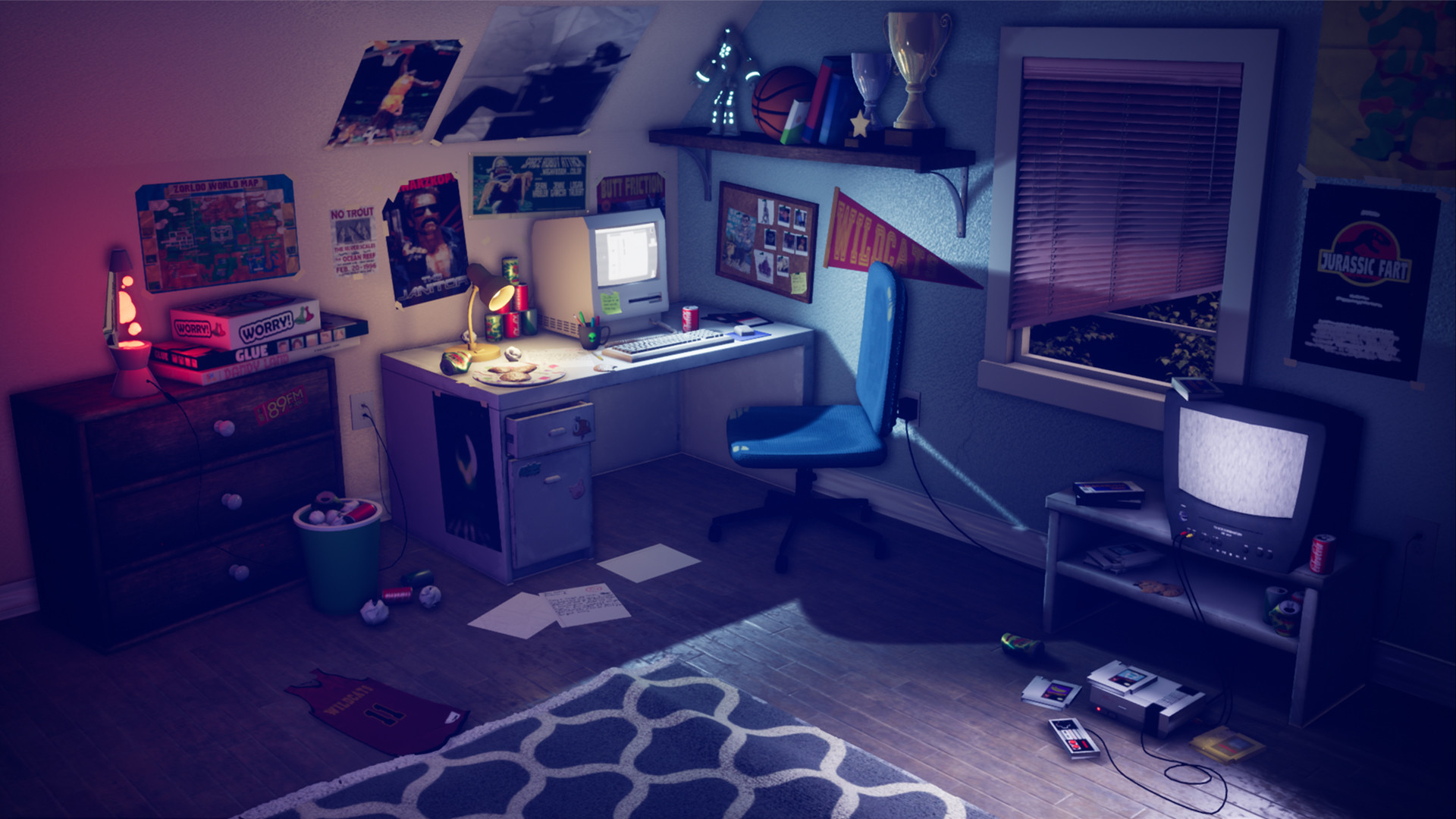 ArtStation - 90\'s Teen Boy\'s Bedroom, Sean Hadeler