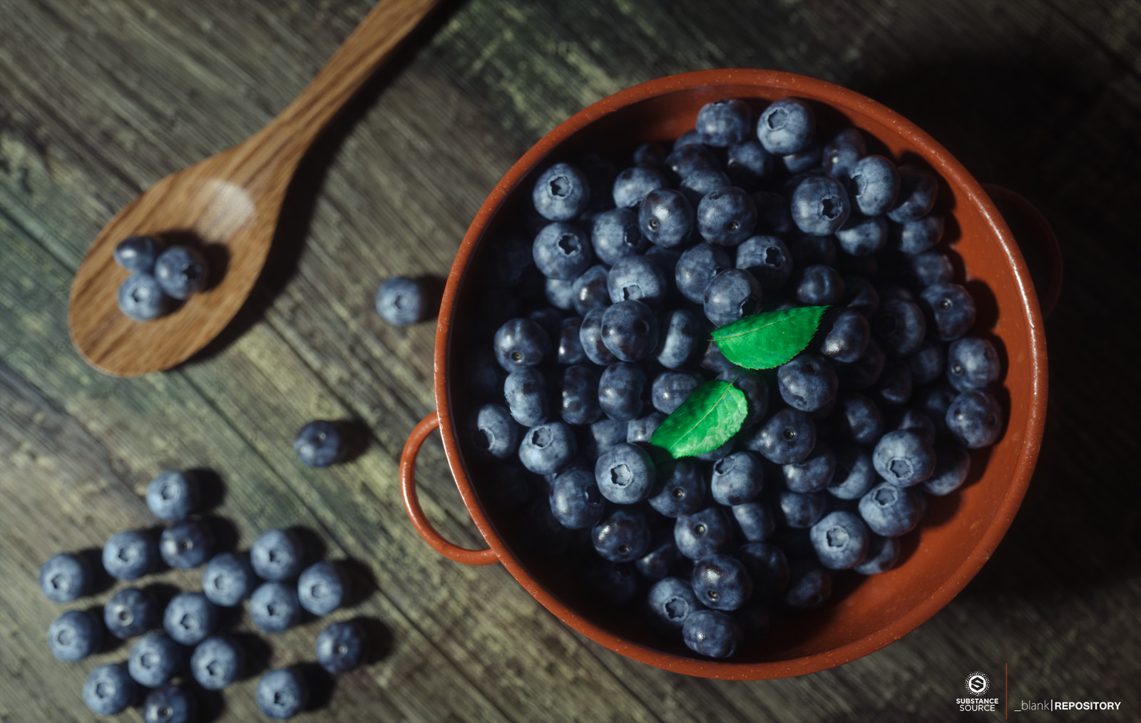 Still life - Bowl of Blueberries