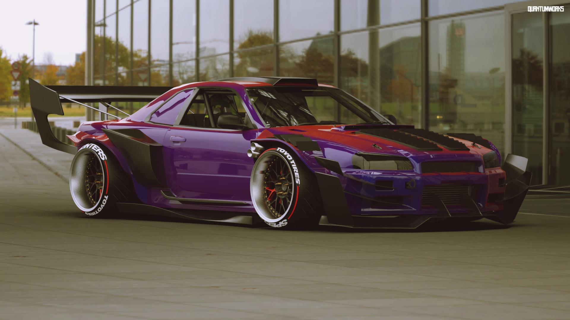 Quantumworx Midnightmare Track Inspired Nissan Skyline R34 Gt R