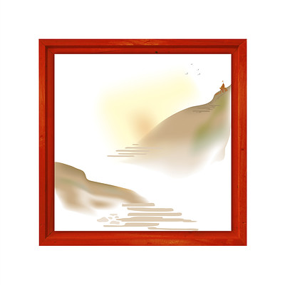 Rajesh r sawant god lives high on the hill12 x 12 new frame red