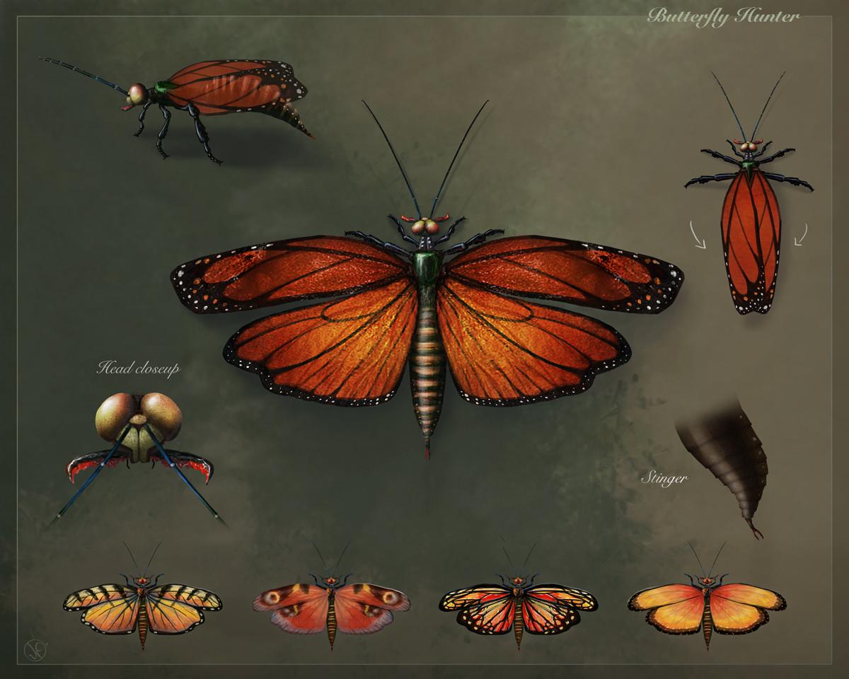 Nathascha friis nathascha friis butterflyhuntercreaturedesignsheet