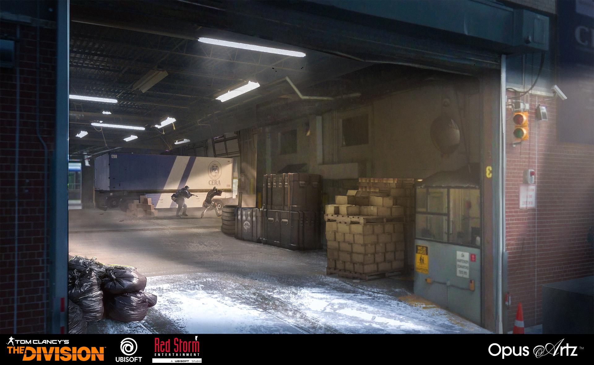 Opus artz loading dock interior